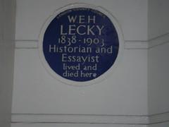 Photo of William Edward Hartpole Lecky blue plaque