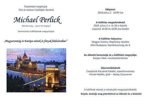 Michael Perlick: Magyarország és Európa színek és fények bódulatában