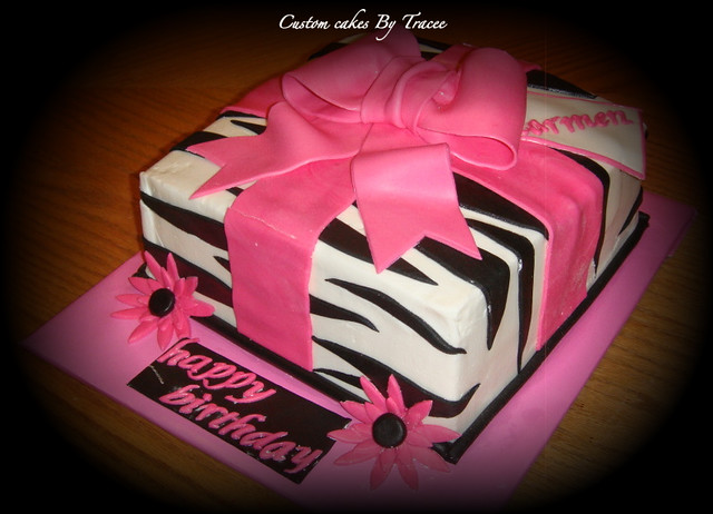 Cake With Zebra Design : Zebra print cake Flickr - Photo Sharing!