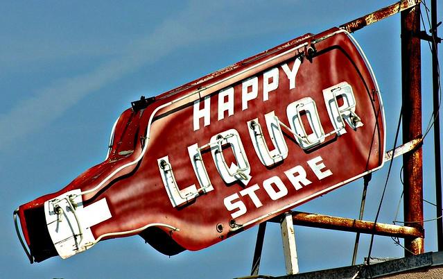 Happy Liquor Store - Fresno, California U.S.A. - April 22, 2008