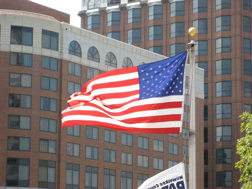 American Flag at Milwaukee's Red Arrow Park