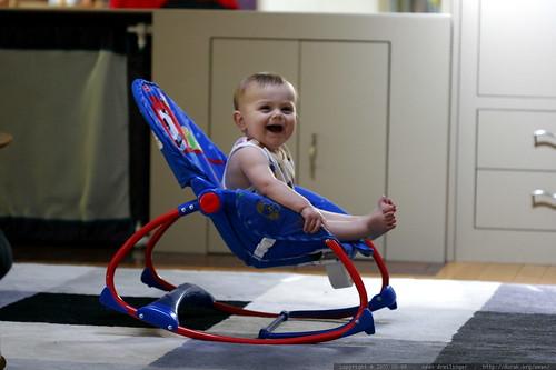 watching baby einstein videos in his rocking chair    MG 3882