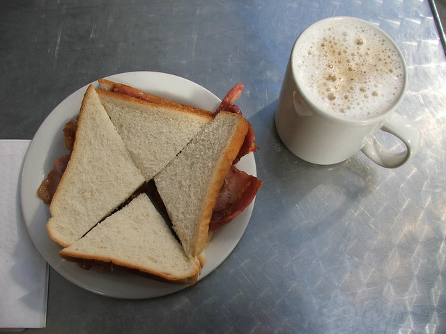 Bacon Sandwich and a Cup of Coffee - EC3 | Flickr - Photo ...