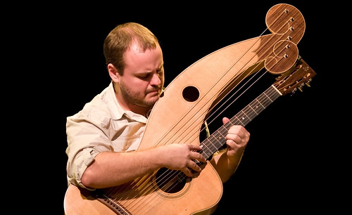 Andy McKee playing his harp guitar