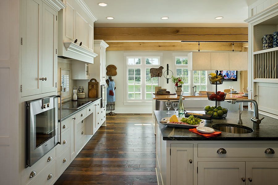 modern meets country kitchen full
