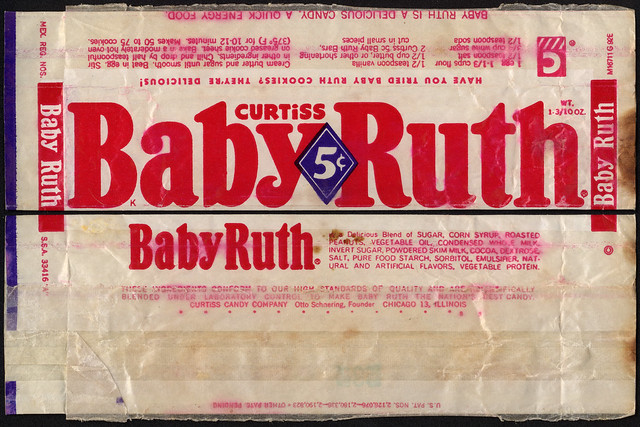 Curtiss Baby Ruth 5 Cent Candy Bar Wrapper Baby Ruth
