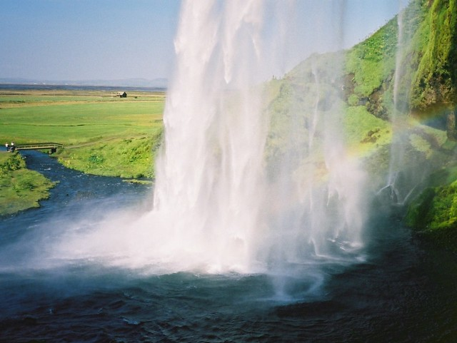 Iceland: From behind Seljalandsfoss