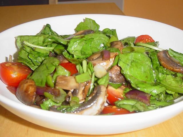 Warm Spinach, Mushroom Salad | Flickr - Photo Sharing!