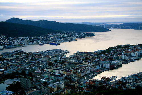 View from Mount Floyen over Bergen