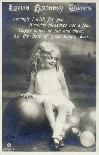 Vintage Postcard ~ Birthday