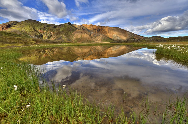 Mountain Reflection in Landmannalaugar