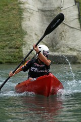 canoe sprint(0.0), canoeing(0.0), canoe(1.0), vehicle(1.0), sports(1.0), watercraft rowing(1.0), kayak(1.0), boating(1.0), canoe slalom(1.0), extreme sport(1.0), kayaking(1.0), whitewater kayaking(1.0), watercraft(1.0), sea kayak(1.0), boat(1.0), paddle(1.0),