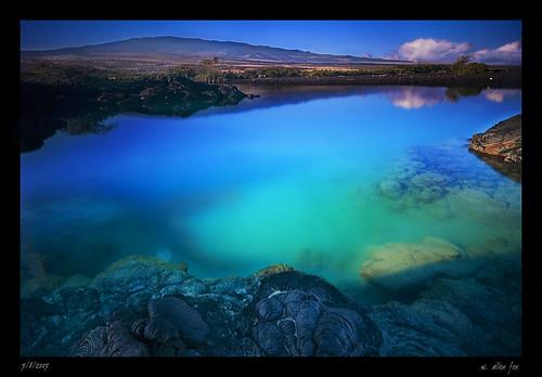 ocean mountain island hawaii bay pacific lagoon coastline kona kiholo kailua waterscape