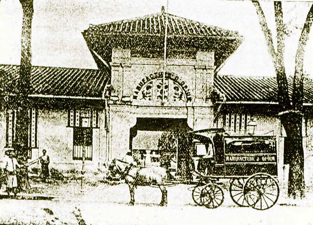 Entrée de la manufacture d'Opium