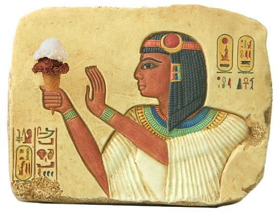 Pharaoh Seti I Offering Ice Cream to the Gods   Flickr