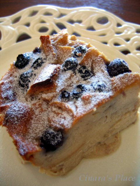 Blueberry Bread Pudding II   Flickr - Photo Sharing!