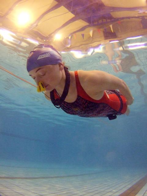 British Freediving Record: Liv's 104m Underwater Swim ...