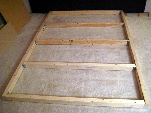 Platform Bed Frame Queen With Headboard Holes