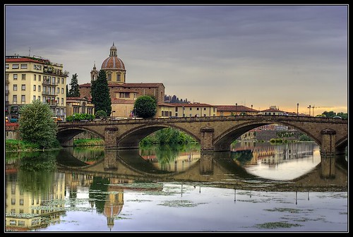 travel bridge summer italy reflection church architecture river 350d florence chiesa tuscany 2007 fiumearno 35faves abigfave superaplus aplusphoto superhearts thegoldenmermaid chiesadisfredianoincestello