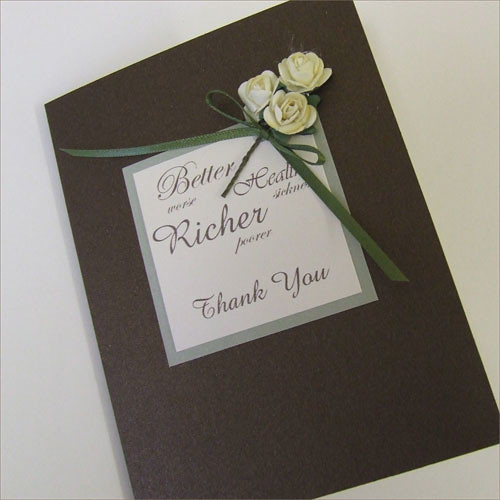Bronte Thank You Card in Bronze
