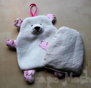 Cherry stone pillow polar bear 3