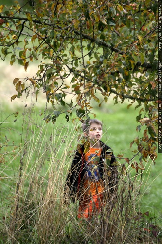 nick, picking an apple at luscher farms