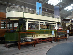 Derby Corporation Tramways 1, National Tramway Museum, Crich Tramway Village, Derbyshire