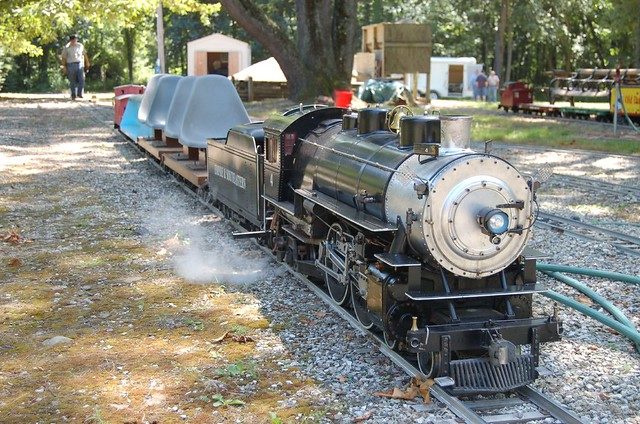 Tim's train in the yard | Flickr - Photo Sharing!