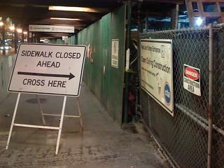 Sidewalk Closed: Cross Into Danger