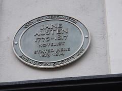 Photo of Jane Austen green plaque