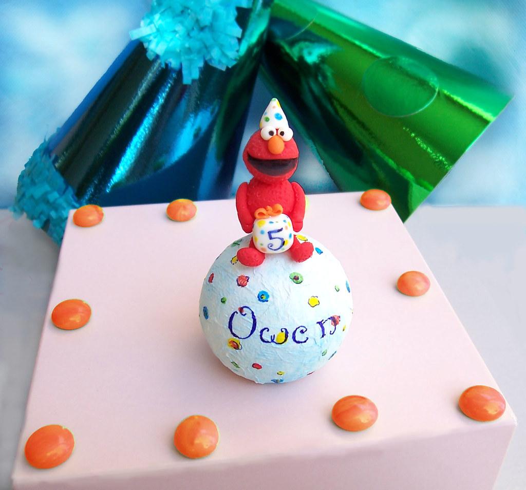Elmo Birthday Cake Topper Personalized Handmade