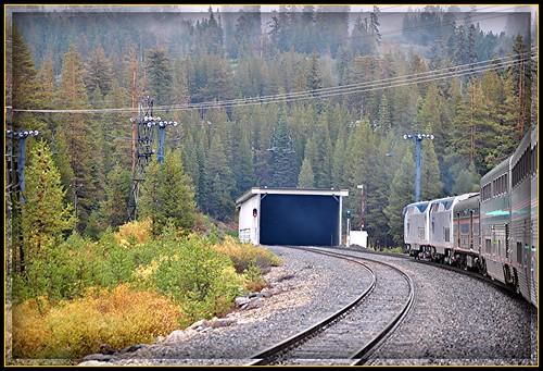jpeg jpg october 2010 sierranevadasmountains donnersummit norden california mist clouds train locomotive amtrak locomotives californiazephyr travel railroad tunnel41 mountjudah sugarbowlskiresort