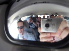 SpyCam! Traffic + Convex Minivan Mirror + Camera = Minutes of Entertainment!