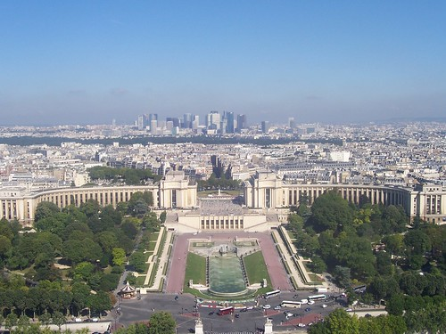 Palais De Chaillot, as seen from Level 2 of the Eiffel Tower
