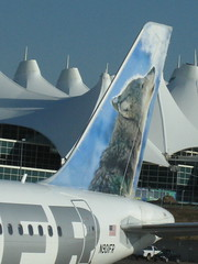 My plane at denver airport