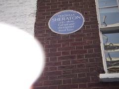 Photo of Thomas Sheraton blue plaque