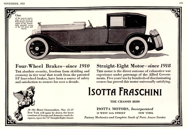 1924 Isotta Fraschini Straight 8 Town Car
