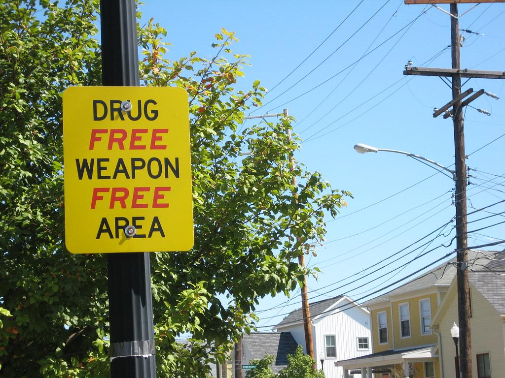 DRUG FREE WEAPON FREE AREA