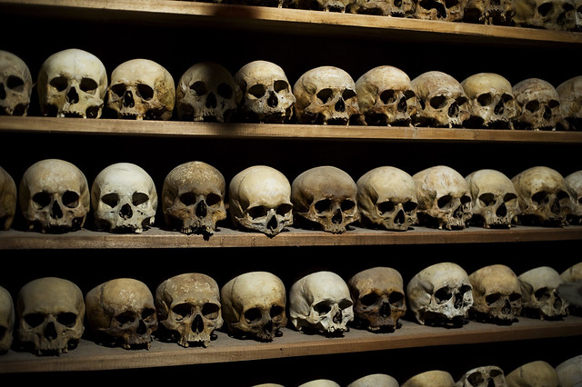 Skulls from the monasteries in Mateora