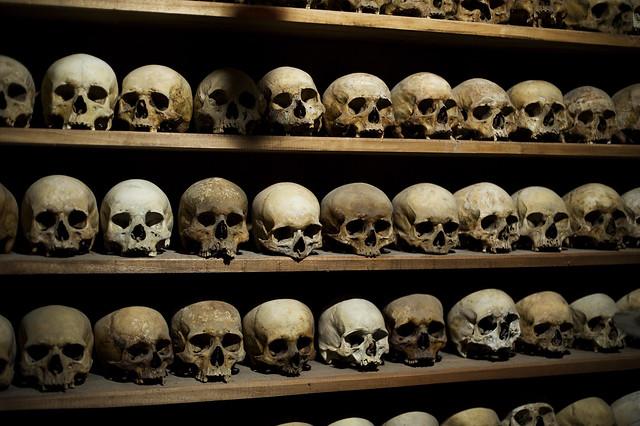 Skulls from the monasteries in Mateora