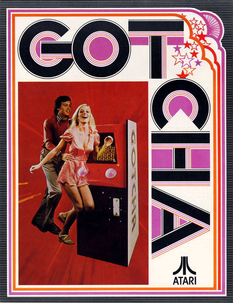Atari Gotcha video game ad flyer
