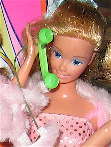Barbie on phone