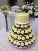 W9002 - yellow cupcake tower