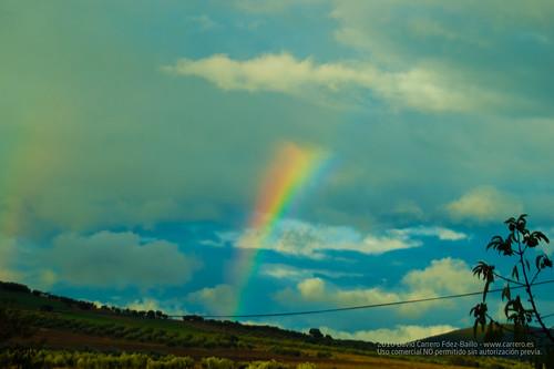 ArcoIris y paisaje. Fin de Semana Casa Rural en Los Cortijos y su entorno