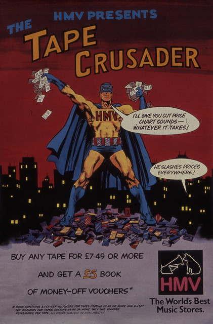 hmv tape crusader offer 1980s