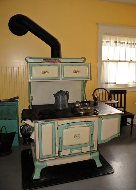 wood burning kitchen stove flickr photo