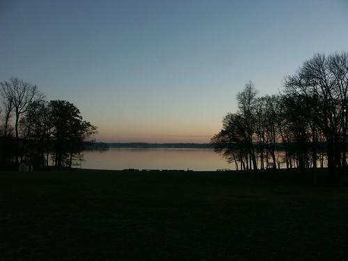 november sunset indiana lakejames pokagonstatepark