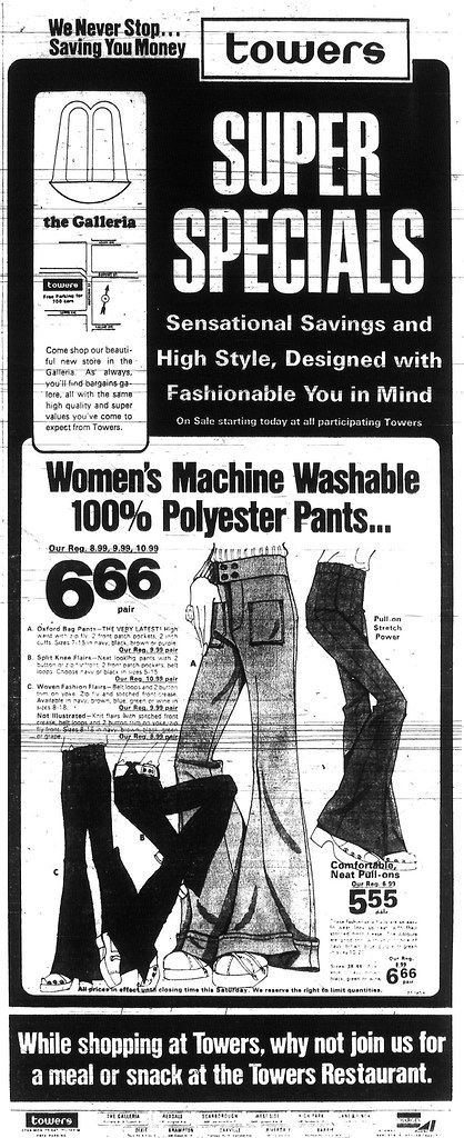 Vintage Ad #370: The Devil's Polyester (or Satan's Slacks)