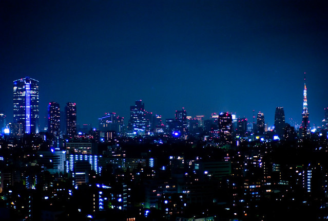 Night view from Westin Tokyo by CC user joi on Flickr