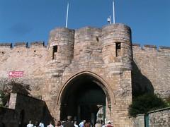 Lincoln castle gates